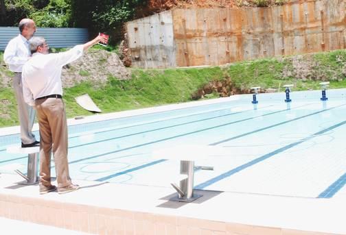 Secret�rio �lvaro Gomes visitou mais uma vez o CONB e ressaltou o est�gio final das obras, que est� bastante avan�ado