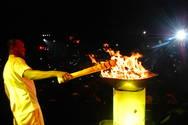 Pira Ol�mpica trouxe mais luz ao Farol da Barra na festa da Rio 2016 em Salvador