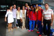 Delega��o cubana de halterofilismo desembarca em Salvador
